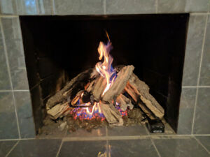 """Real-Fyre Gas Logs with 18"""" automatic gas burner"""