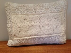 Antique Vintage Lace Accent Pilllow