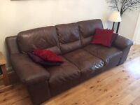 Matching 3 and 2 seater leather sofas