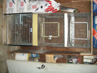 3 TIER RABBIT CAGES WITH TRAYS
