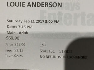 Comedian Louis Anderson - TONIGHT! 1/2 price