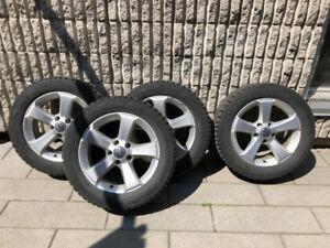 """4 Mags 16"""" alu Volks (Golf - Tiguan - Passat...) + Pneus hiver"""