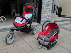 Stroller Poussette CHICCO + Coquille (Car Seat KeyFit) - Baby