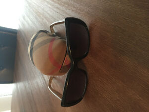 Authentic polarized Burberry sunglasses with case