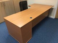 Brand new Office Desk Angle with chair and drawer