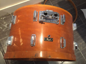 """24"""" x 14""""  all maple shell pearl  vintage bass drum"""