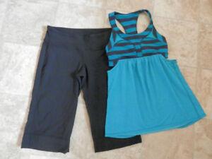 Bag of Lululemon top&bottom sets (5 sets, size 6,8,10)