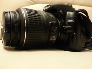 """""""Nikon D5000 DSLR""""+ 18-55 Lens, Strap & Accessories"""