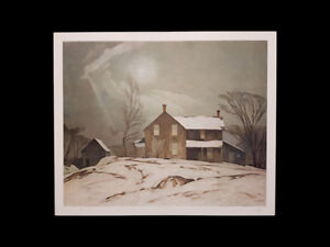 """A.J. Casson """"Farmhouse March Day"""" Lithograph appraised at $1000 London Ontario image 5"""
