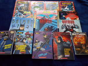15 BATMAN children's books-various ages (vintage/newer)