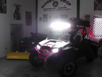 "6""/12""/20""/25"" SR CREE LED Light Bars – Polaris RZR Yamaha UTV"