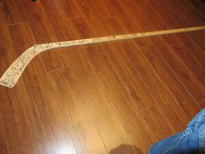 Halifax Mooseheads 2000-01 Team Autographed Stick