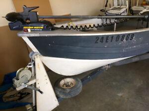14' Mirro Craft Aluminum fishing boat