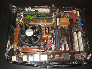 ASUS P5Q Pro Turbo Motherboard + E7500 CPU + 4GB RAM