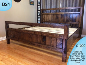 RUSTIC SOLID WOOD FARMHOUSE BEDS - TWIN/DOUBLE/QUEEN/KING/BUNK Kingston Kingston Area image 8