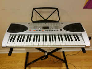 Keyboard with microphone and stand
