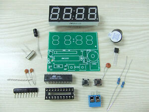 4-Bits-Digital-Clock-2-Alarm-Clock-Electronic-DIY-Kits-szsp24