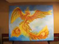 Phoenix Painting - Spectacular Acrylic Painting by Local Artist