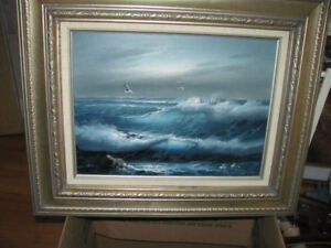 dramatic original oil painting