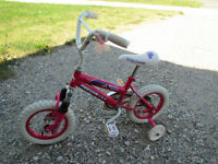 "Pink 12"" Girls Bike w/ training wheels"