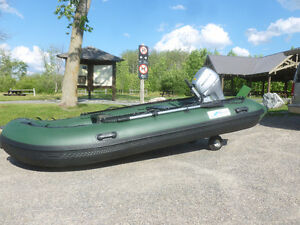 2015 inflatable boat and motor