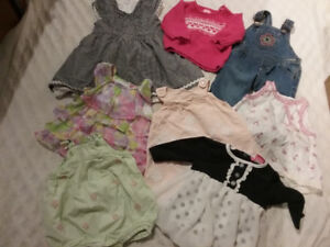 Baby Girl Clothes Variety 53 PC sz 3-12 months Euc CUTE