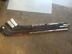 One piece hockey sticks right