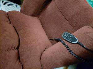 Rocking La-Z-boy with remote recline