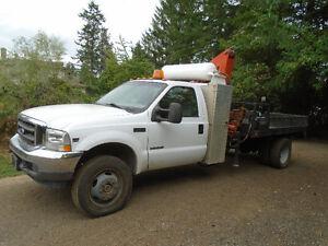 2002 Ford XL F550 4x4 7.3 Diesel  service utility truck