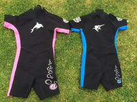Kids shorty wetsuits
