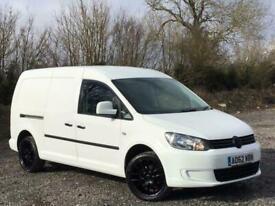2012 Volkswagen Caddy 1.6 TDI 102PS MAXI Van ++ NO VAT ++ BLACK ALLOY WHEELS PAN
