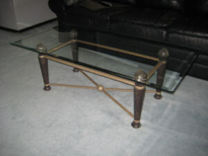 Glass coffee table and end table, good condition, both for $50