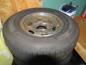 1988 Toyota Land Cruiser rims and quite new Michelin tires
