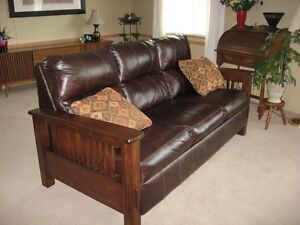 Nice bonded leather couch .