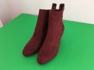 Red Wedge Boots