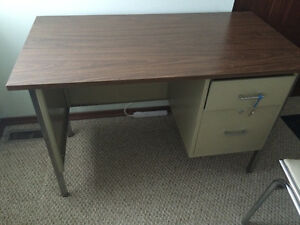 Metal Desk with Chair