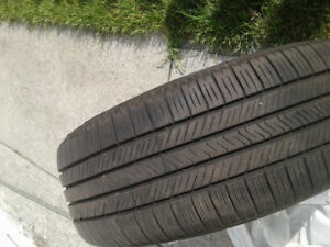 Goodyear Eagle LS. 225 55 17 tires. 8/32 and new are 10/32.