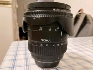 Sigma 10-20 mm for Pentax, like new with filters.