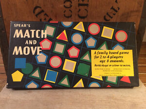Vintage Match and Move Board Game