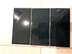 8 full Boxes of Blue Ceramic Wall Tiles