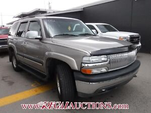 2002 CHEVROLET TAHOE  4D UTILITY 4WD