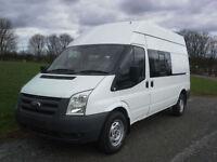 Ford Transit 350 2.4 9 Seat LWB Crew Minibus Splitter Van, Very Clean