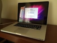 """Apple MacBook Pro """"Core i7"""" 2.0 15"""" Early 2011 A1286 500GB TRACKPAD NEEDS REPLACING"""