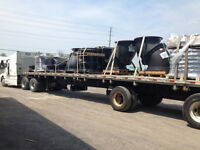 OWNER OPERATOR WITH 48FT FLATBED TRACTOR TRAILER