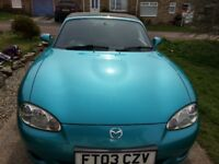 Mazda MX5 low Milage 49,895with hard top