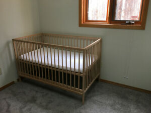 $70  New Solid Wood Crib With Mattress