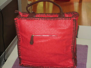 Shiraleah Red Woven Purse - Brand New with tag