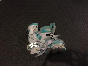 Kids size 1-4 adjustable roller blades