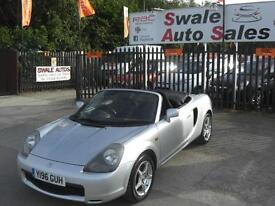 2001 TOYOTA MR2 ROADSTER 1.8 VVT-i CONVERTIBLE, ONLY 77,641 MILES, VERY FAST
