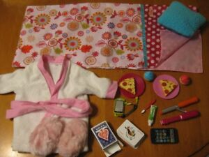 """18"""" DOLL OUR GENERATION SLEEPOVER SET WITH ROBE AND SLIPPERS"""